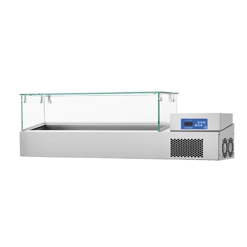 meuble refrigere avec vitrine destine aux preparations froides. Black Bedroom Furniture Sets. Home Design Ideas