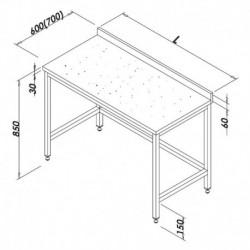 TABLE DE DECOUPE DESSUS MARBRE