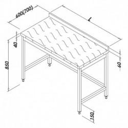 TABLE DE DECOUPE DESSUS POLYETHYLENE