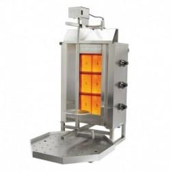 MACHINE A KEBAB GAZ (MOTEUR EN HAUT) 3 BRULEURS