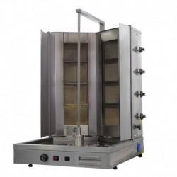 MACHINE A KEBAB GAZ MODELE TYPE V, AVEC BANC MOBILE, VITRE THERMALE ROBAX, 44GUD-V-CA, 8 BRULEURS