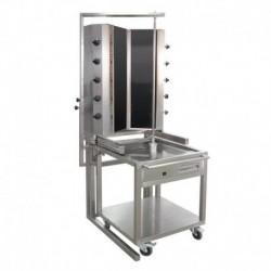 MACHINE A KEBAB GAZ MODELE 55GUD-V, TYPE V, 10 BRULEURS
