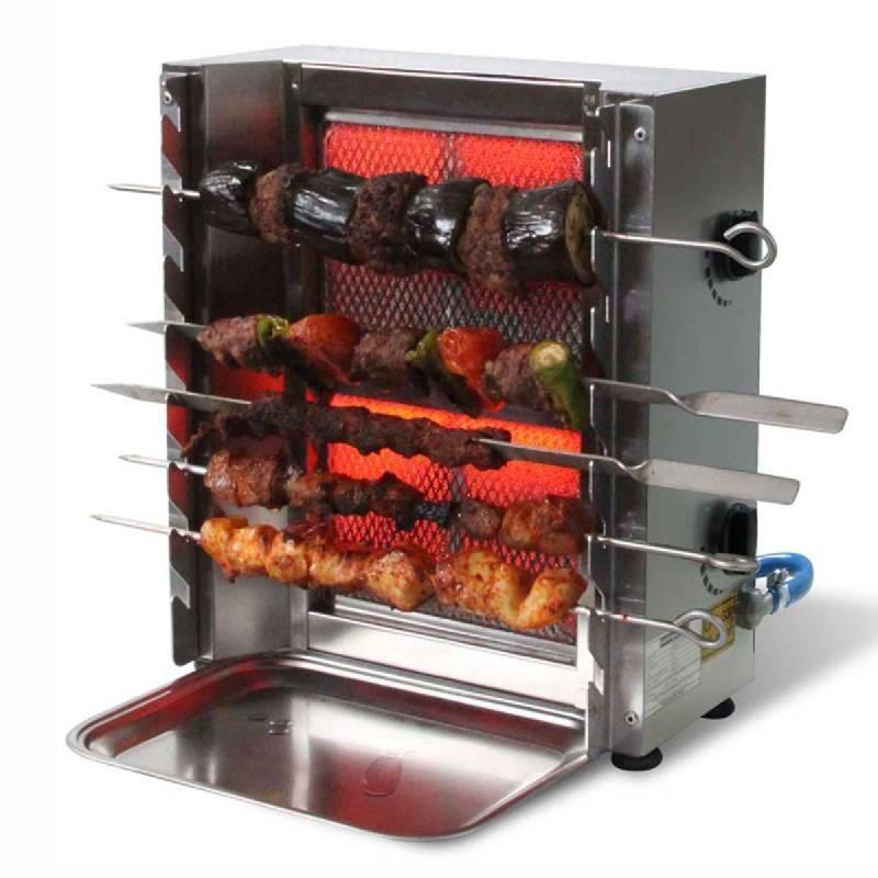 Appareil de cuisson de brochette sis kebab 2 bruleurs for Appareil de cuisson