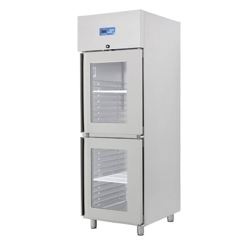 armoire refrigeree positive 2 demi portes vitrees ventilee. Black Bedroom Furniture Sets. Home Design Ideas