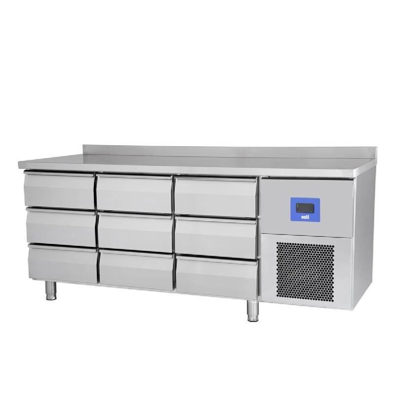 Pro 600 meuble refrigere negatif avec 9 tiroirs for Meuble avec nombreux tiroirs